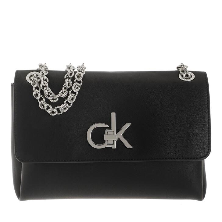 bags, Calvin Klein, Convertible Flap Medium Crossbody Bag Black