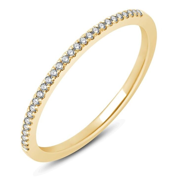 rings, Pukka Berlin, Micro Diamond Band Yellow Gold