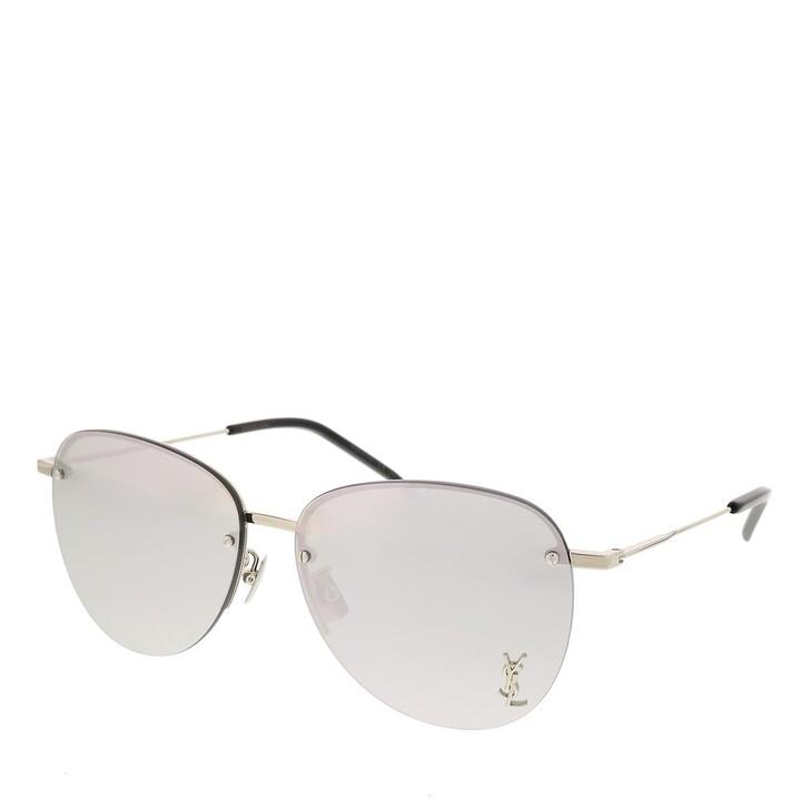 sunglasses, Saint Laurent, SL 328/K M-002 61 Sunglass Unisex Metaltal Silver-Silver-Silver