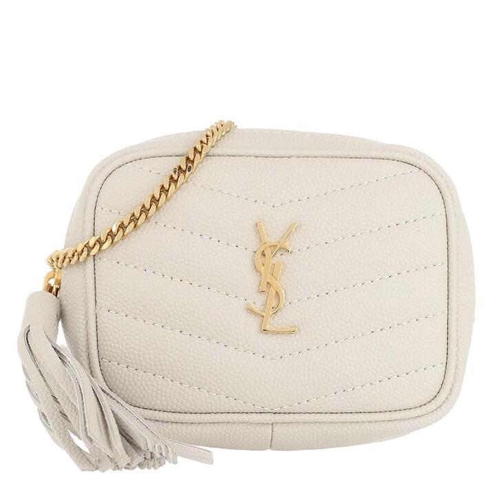 Handtasche, Saint Laurent, Lou Baby Shoulder Bag Leather Crema Soft