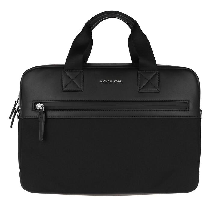 Handtasche, MICHAEL Michael Kors, Double Zip Sport Briefcase Black