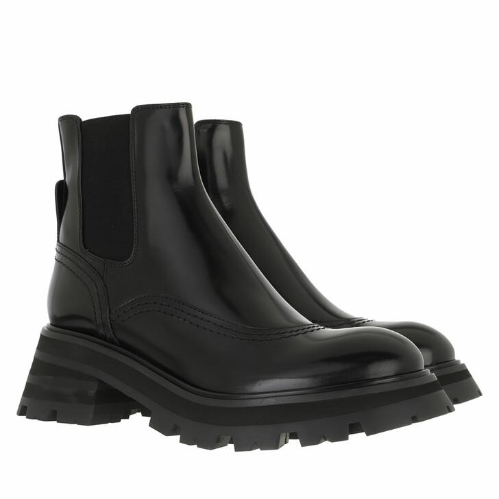 shoes, Alexander McQueen, Wander Chelsea Boots Leather Black