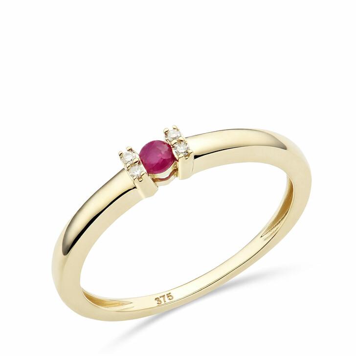 rings, DIAMADA, 9KT (375) Ring Ruby and Diamonds Yellow Gold
