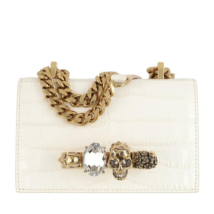 Handtasche, Alexander McQueen, Jewelled Crossbody Bag Deep Ivory