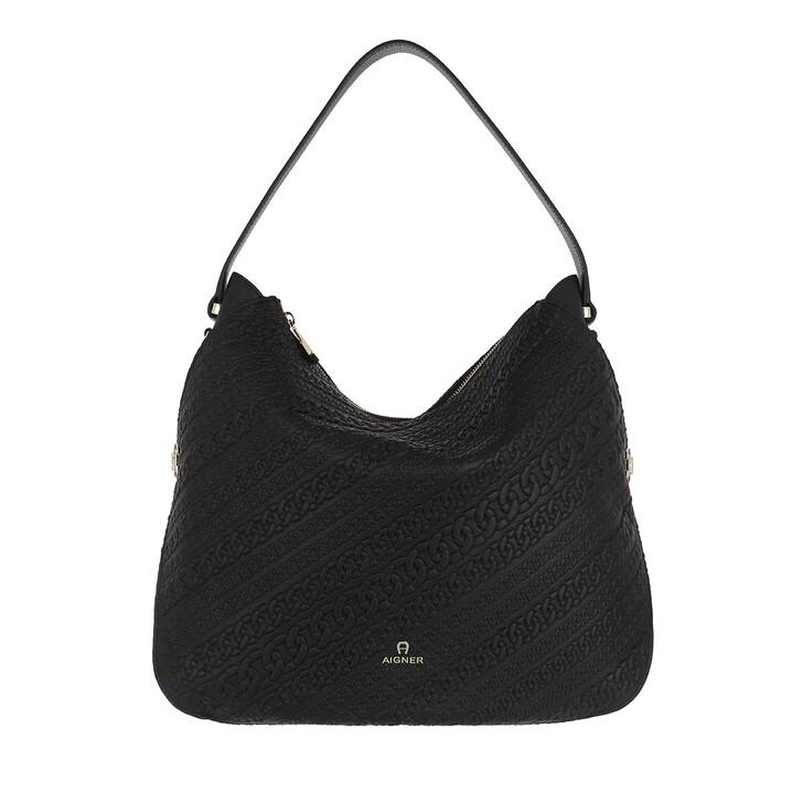 bags, AIGNER, Milano Hobo Bag Black