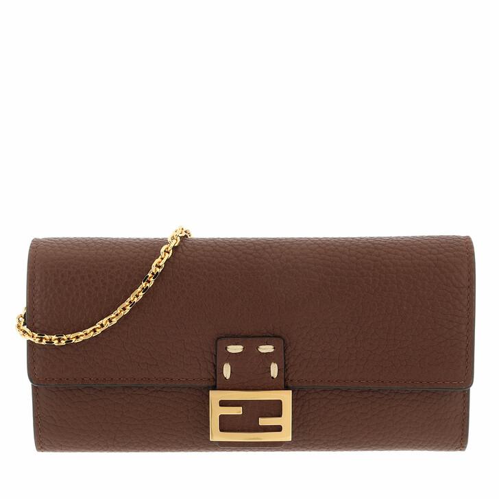 wallets, Fendi, Pouch Brown