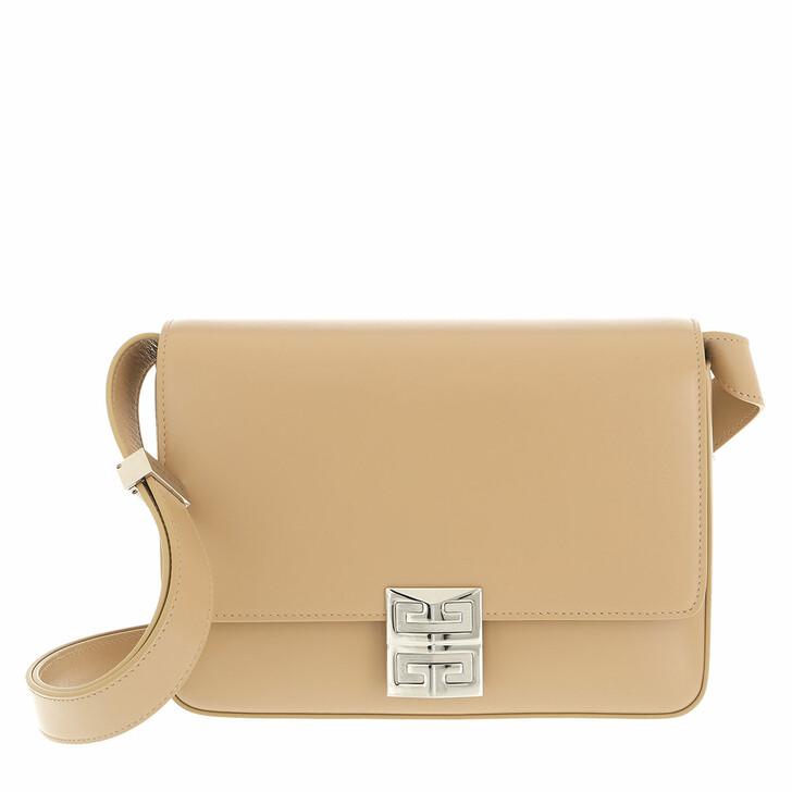 bags, Givenchy, Medium 4G Box Crossbody Bag Leather Beige