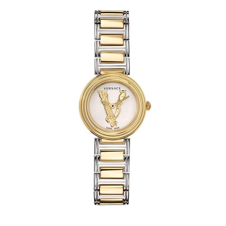 watches, Versace, VIRTUS MINI Watch Silver & Yellow Gold Tone