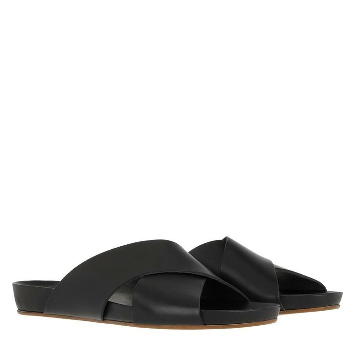 Schuh, ATP Atelier, Doris Vacchetta Comfy Sandals Black