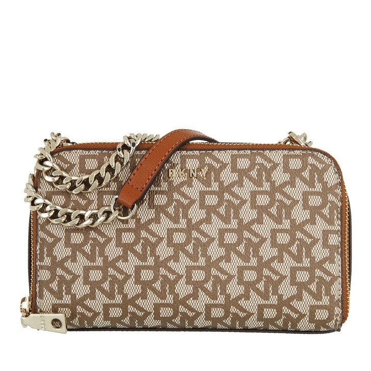 Handtasche, DKNY, Felicia Double Zip Crossbody Chino Caramel