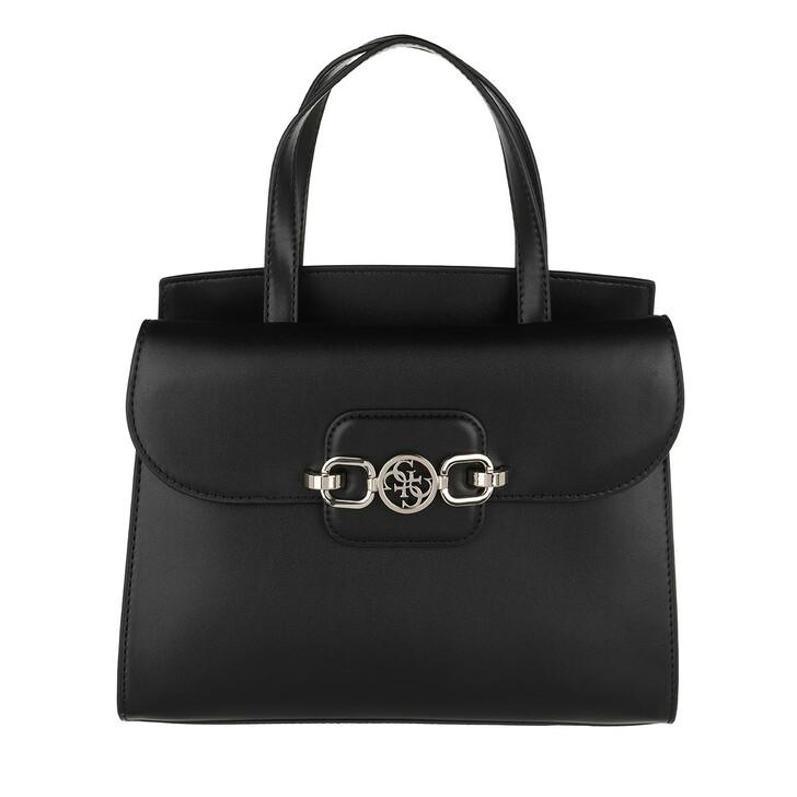 bags, Guess, Hensely Mini Satchel Bag Black
