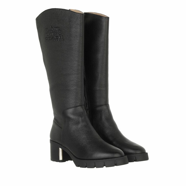 shoes, Coach, Cindy Leather Boot