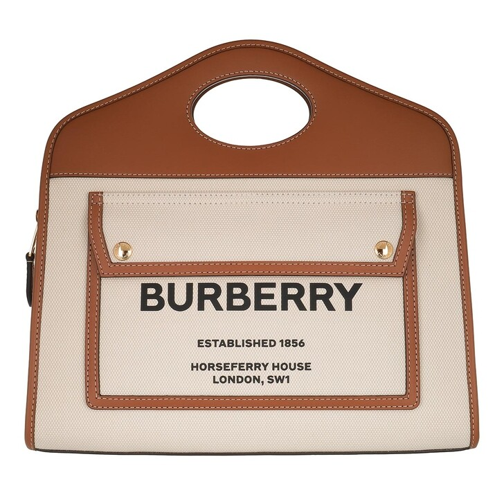 Handtasche, Burberry, Small Pocket Tote Bag Natural/Malt Brown