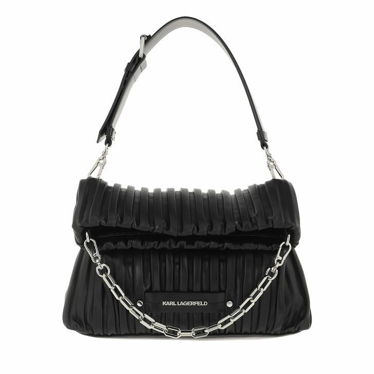 bags, Karl Lagerfeld, K/Kushion Sm Folded Tote Black