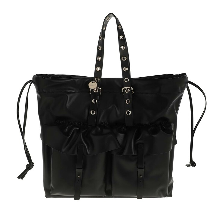 bags, Red Valentino, Tote Black