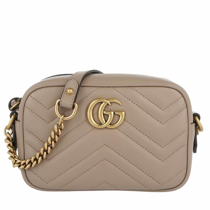Handtasche, Gucci, GG Marmont Matelassé Mini Bag Taupe