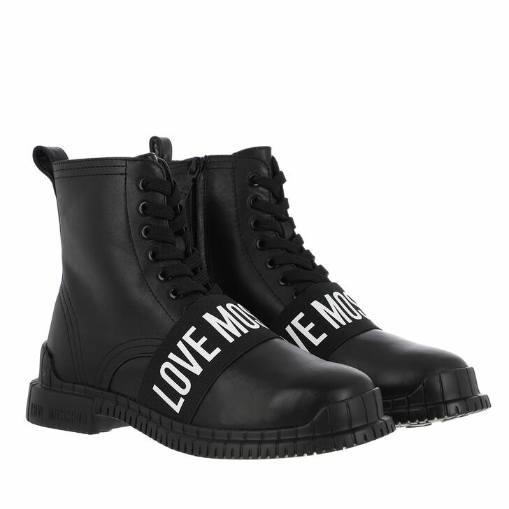 shoes, Love Moschino, St Ttod Gommar30 Vitello  Nero