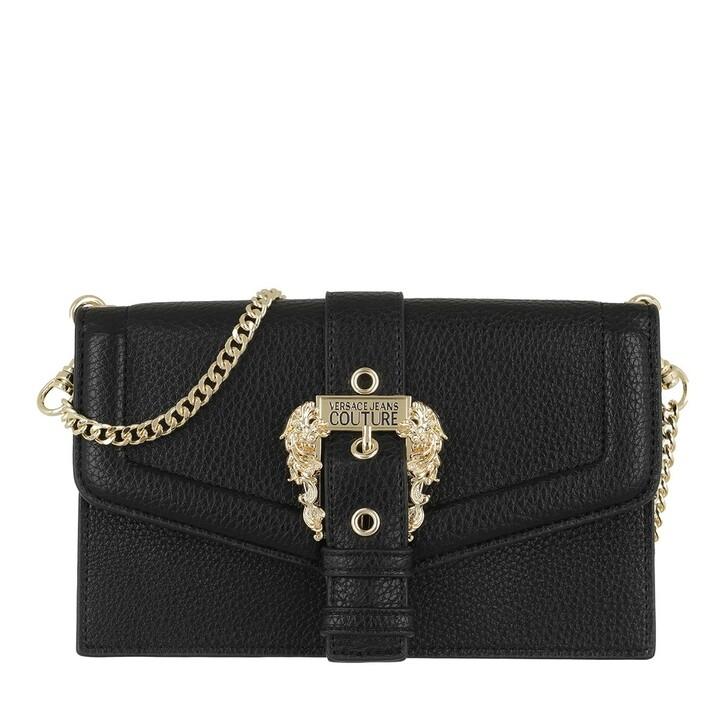 Geldbörse, Versace Jeans Couture, Chain Wallet Leather Black