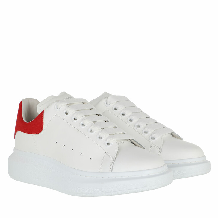 shoes, Alexander McQueen, Sneakers Leather White/Red