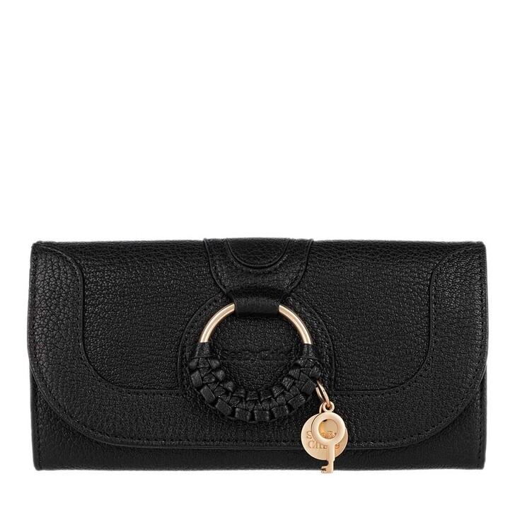 wallets, See By Chloé, Hana Wallet Large Black