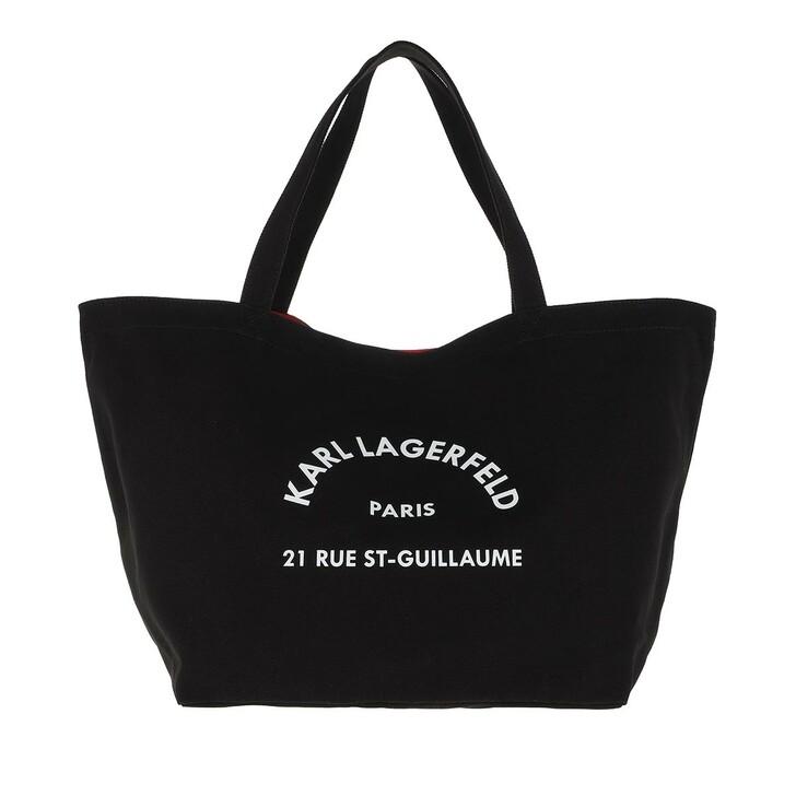 bags, Karl Lagerfeld, Rue Saint Guillaume Canvas Tote Black