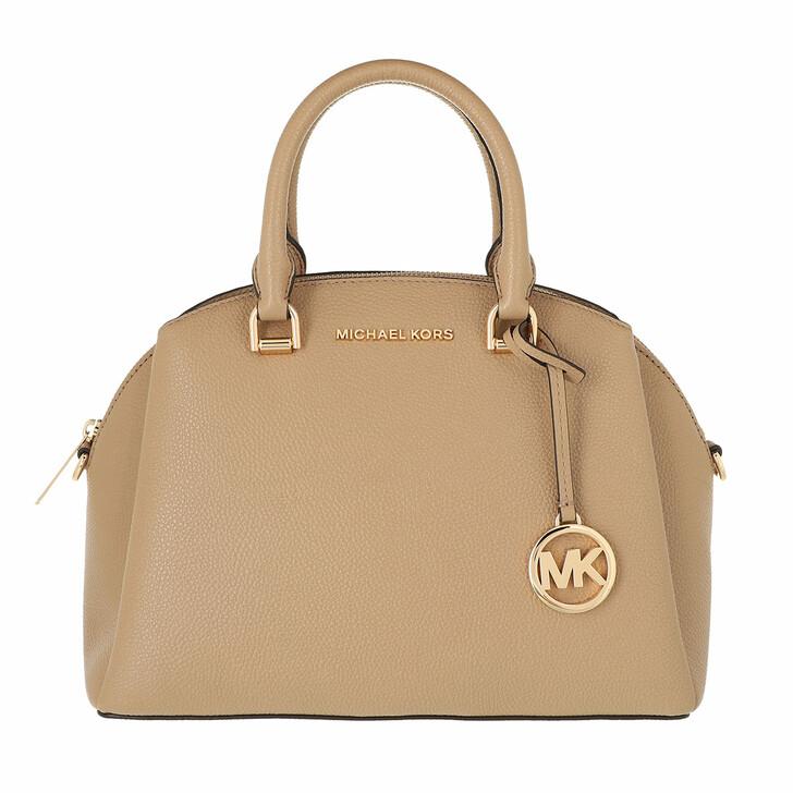 bags, MICHAEL Michael Kors, Medium Dome Satchel Camel