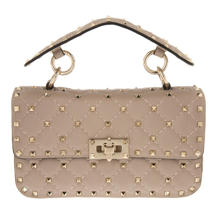 Handtasche, Valentino Garavani, Rockstud Spike Crossbody Bag Small Poudre