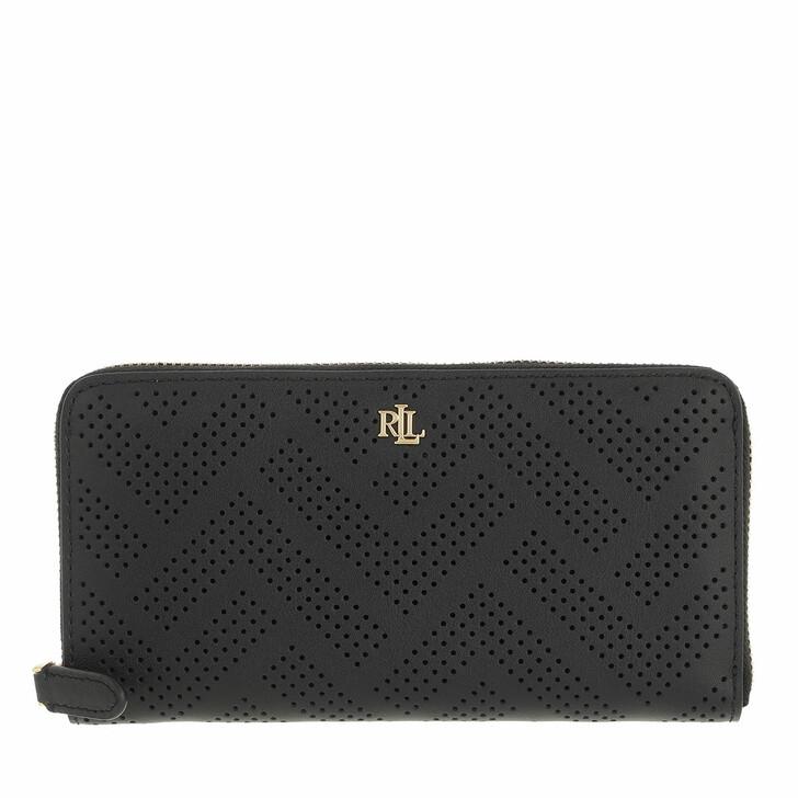 wallets, Lauren Ralph Lauren, Zip Cont Wallet Large Black