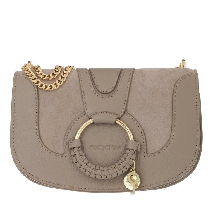 bags, See By Chloé, Hana Crossbody Bag Leather Motty Grey