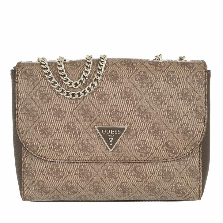 bags, Guess, Cordelia Logo Convertible Xbdy Flap Latte/Brown