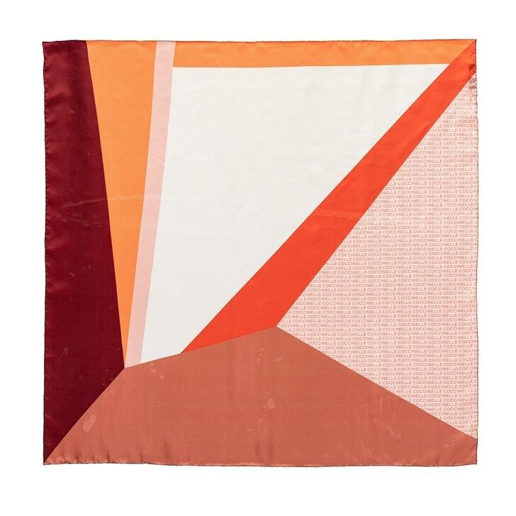 Schal, Coccinelle, Colour Block Foulard Scarve Multicolour Litchi