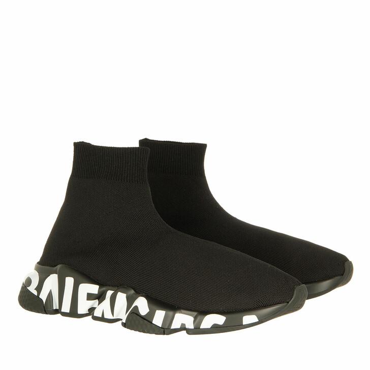 Schuh, Balenciaga, Speed Logo Sneakers Graffiti Black/White