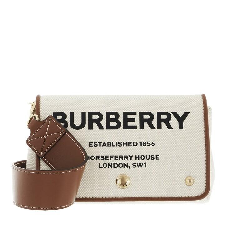 bags, Burberry, Small Horseferry Print Crossbody Bag White/Tan