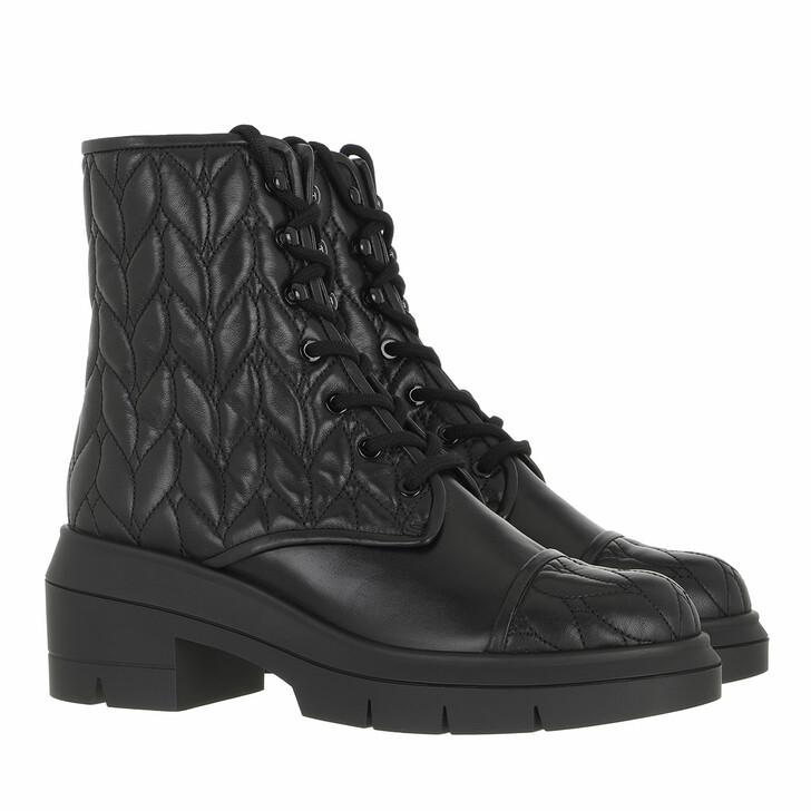 shoes, Stuart Weitzman, Nisha Quilted Bootie Black
