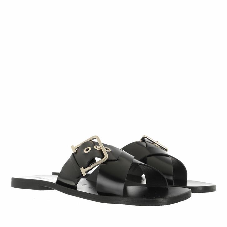 Schuh, Ted Baker, Joseei Buckle Detail Flat Sandal Black