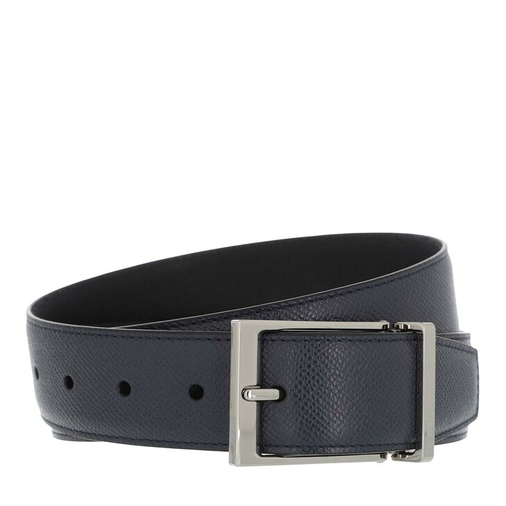 belts, Burberry, Men Logo Engraved Buckle Belt Leather Black