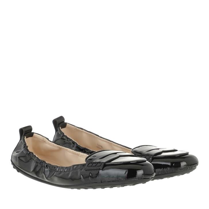 Schuh, Tod's, Gommino Ballerina Patent Leather Black