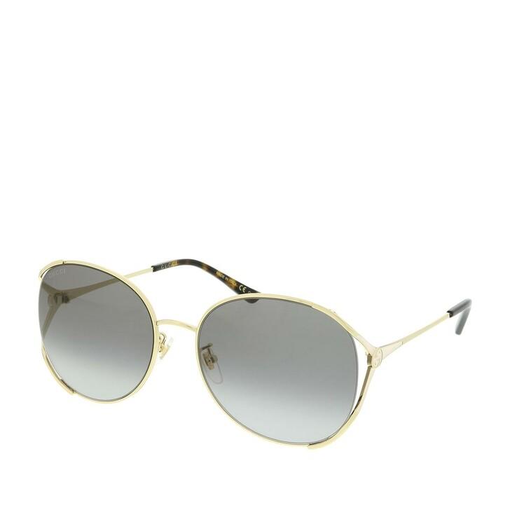 Sonnenbrille, Gucci, GG0650SK-002 59 Sunglasses Gold-Gold-Grey