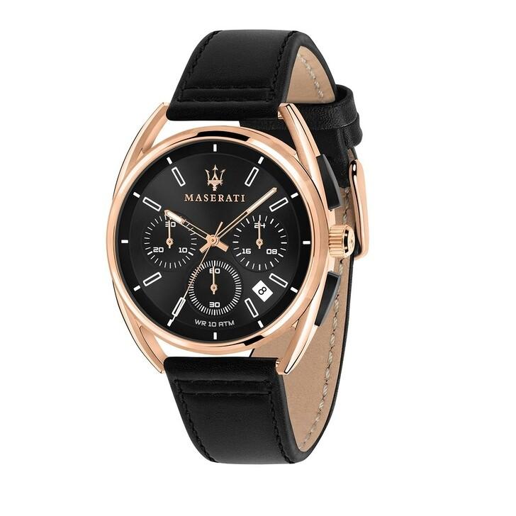 watches, Maserati, TRIMARANO 41mm Black