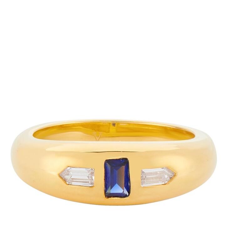 Ring, V by Laura Vann, Erika Ring Yellow Gold/Blue Corrundum