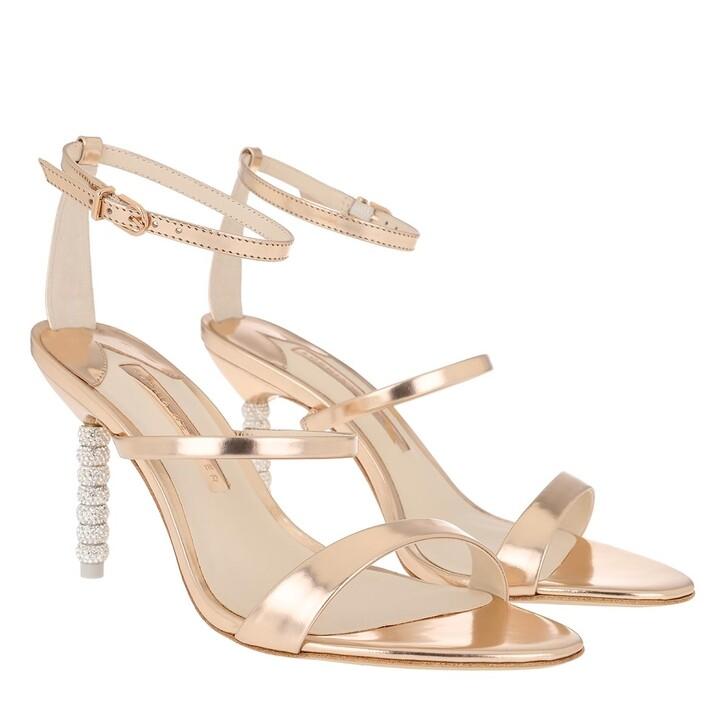 Schuh, Sophia Webster, Rosalind Crystal Mid Sandal Rose Gold