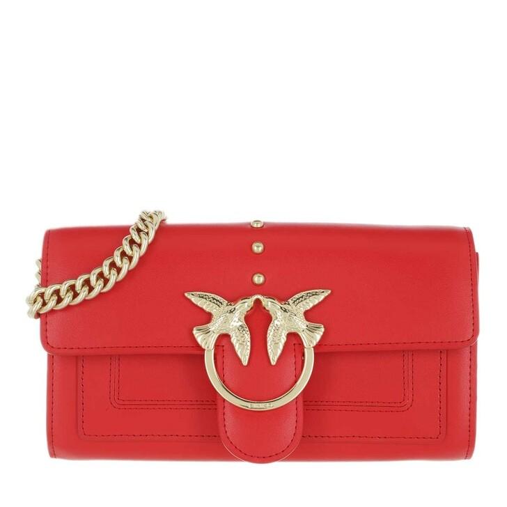 Handtasche, Pinko, Love Simply Crossbody Vitello Seta Red