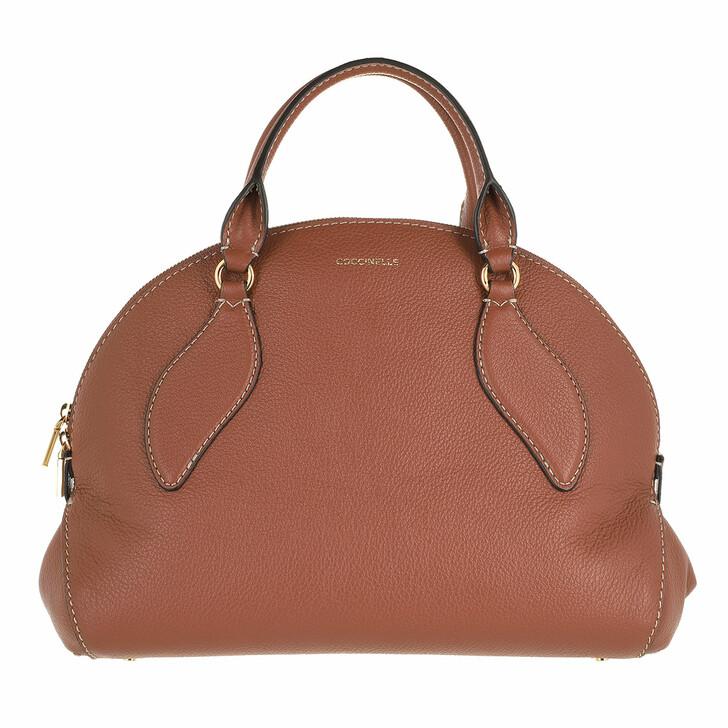 bags, Coccinelle, Colette Handbag Grained Leather Cinnamon