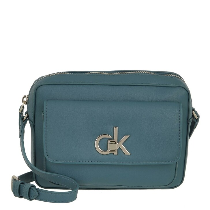 bags, Calvin Klein, Re-Lock Camera Bag With Flap Pkt Large Petrol