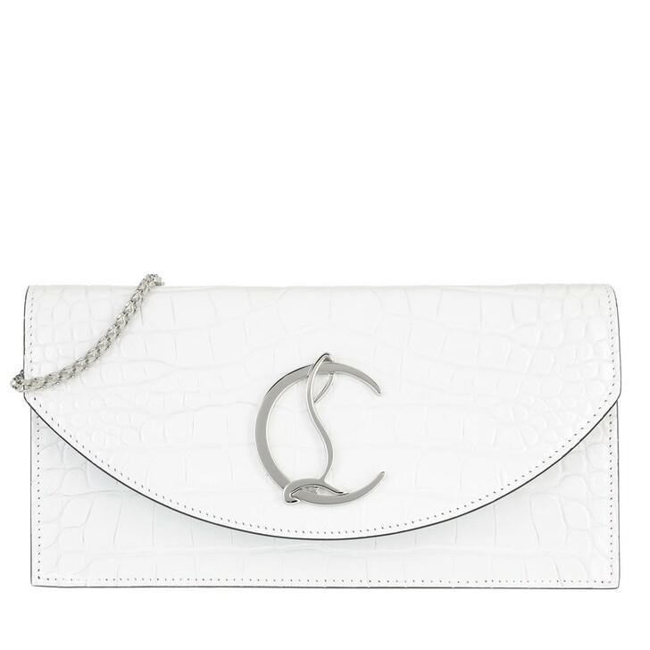 bags, Christian Louboutin, Loubi54 Crosbody Bag Leather White
