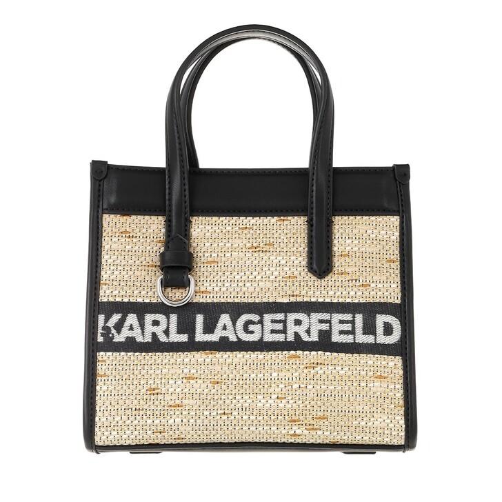bags, Karl Lagerfeld, Skuare Small Logo Tote  Black