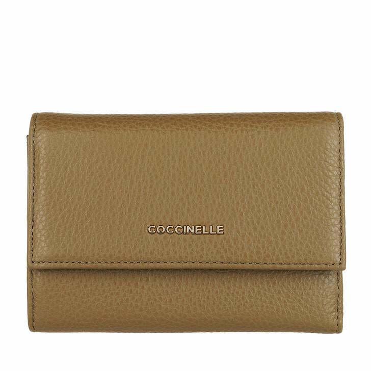 Geldbörse, Coccinelle, Wallet Grainy Leather Moss Green