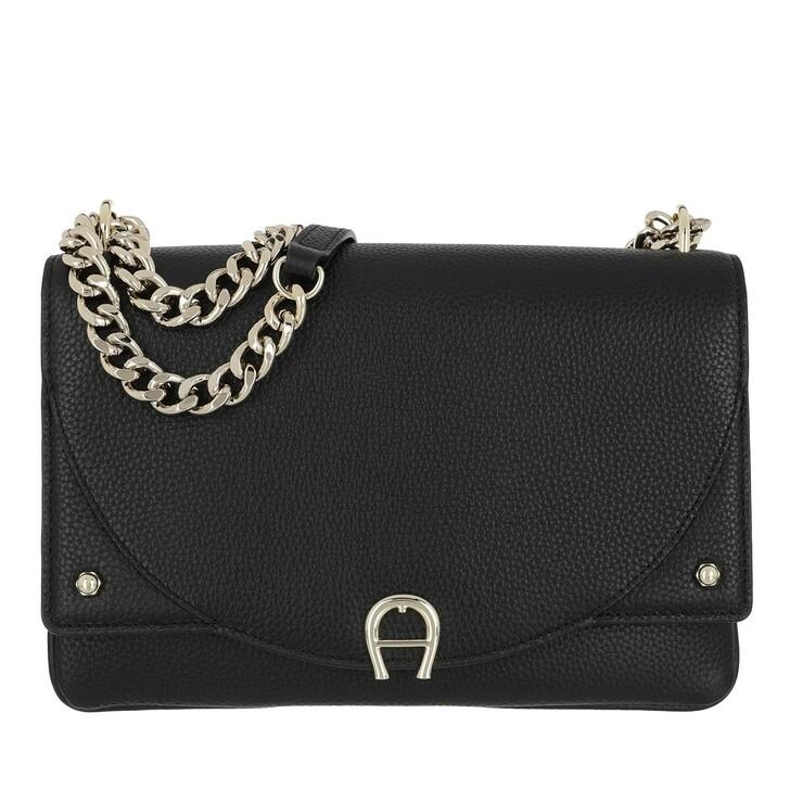 Handtasche, AIGNER, Diadora Handle Bag Black