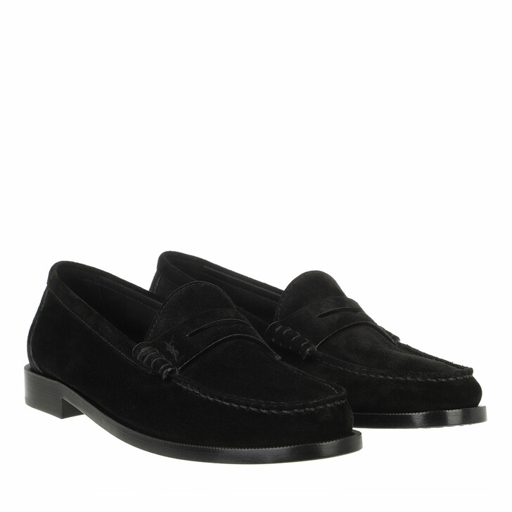 Schuh, Saint Laurent, Le Loafer Monogram Penny Slippers Leather Black