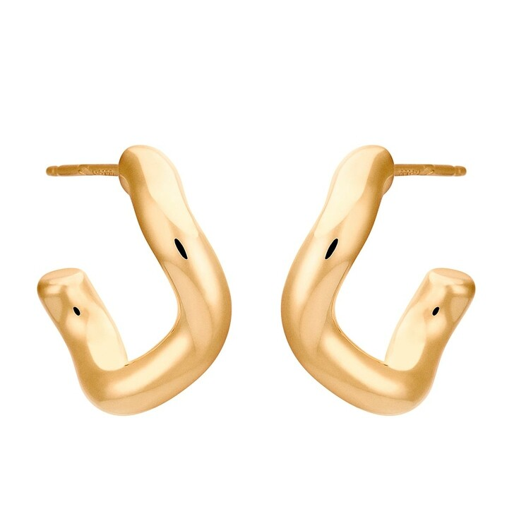 Ohrring, Charlotte Chesnais, Earring Hoops Wave Yellow Gold